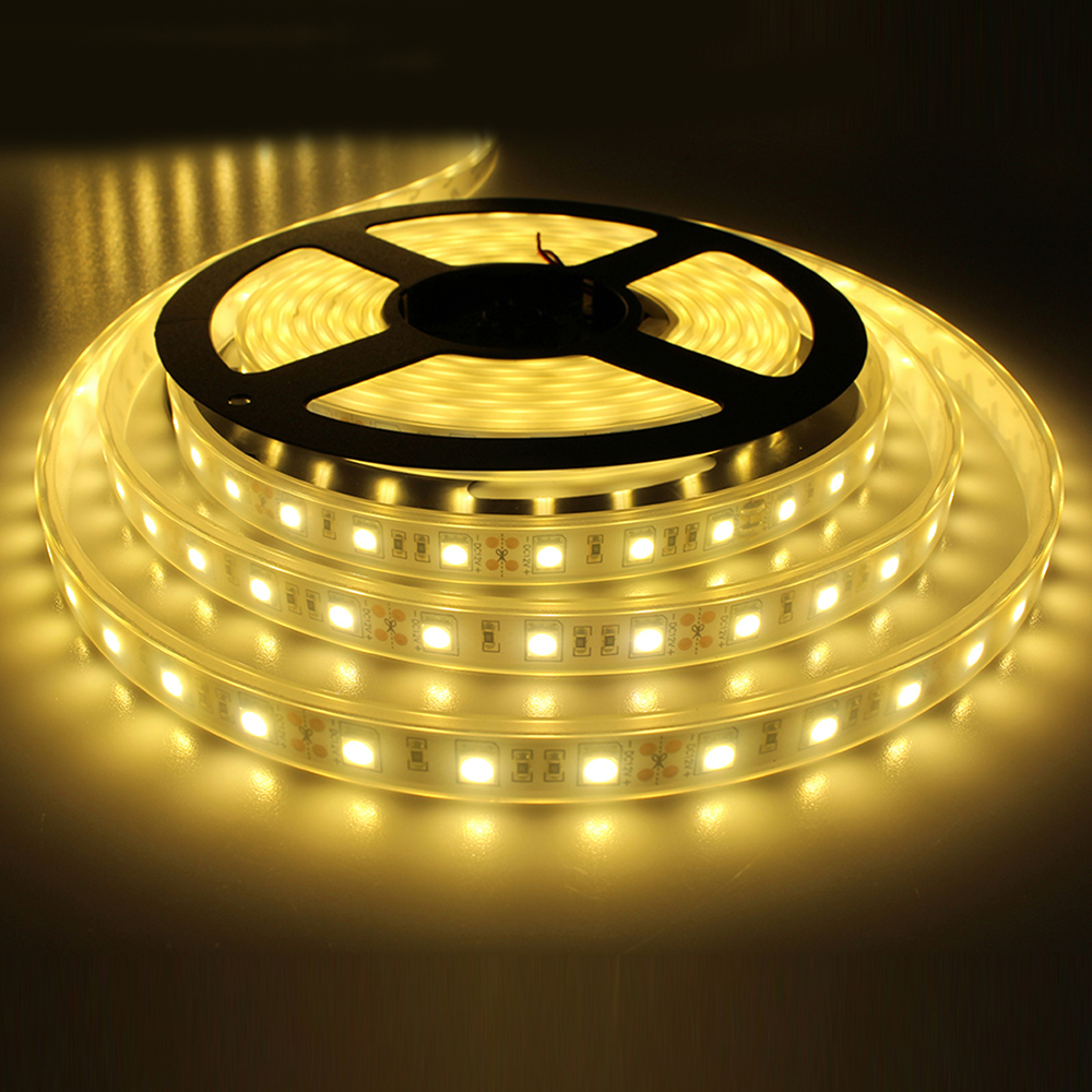 Led Waterproof Strip Lights White Flexible Rope Lighting: Tanbaby Silicon Led Strip Lights 5050 SMD 60 Led/M DC12V