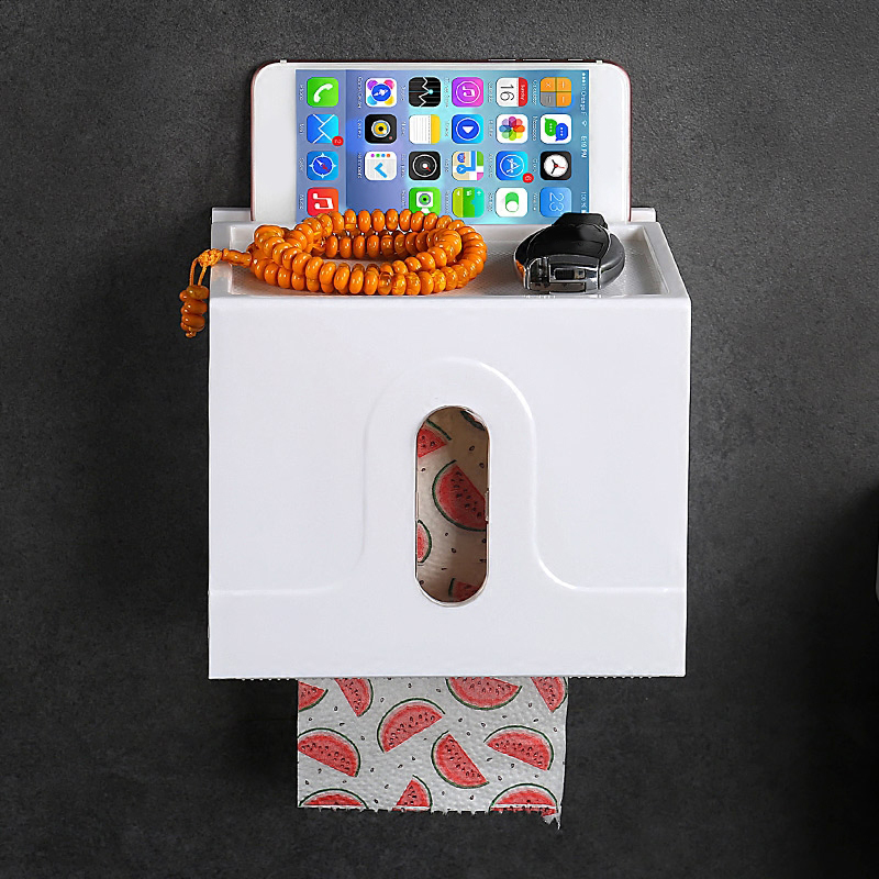 Shuang Qing Home Reside Seamless paper roll holder Powerful suction cup Creative roll holder can be used repeatedly SQ-5118