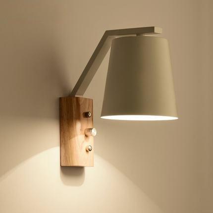 Nordic Stijl Houten Wandlamp Moderne Home Verlichting Slaapkamer ...