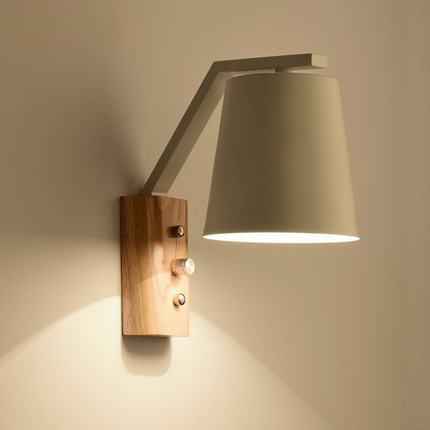 Nordic Style Wood Wall Lamp Modern Home Lighting Bedroom