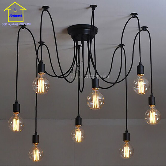 Hot Edison Bulb Lighting E27 Lamp Holder Pendant Light American Country Style Lights Fixtures
