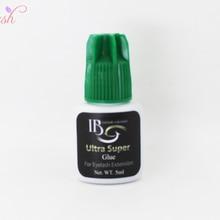 i-beauty 1 бутылка IB ультра супер клей индивидуальная быстрая сушка Наращивание ресниц Клей зеленый колпачок 5 мл/бутылка