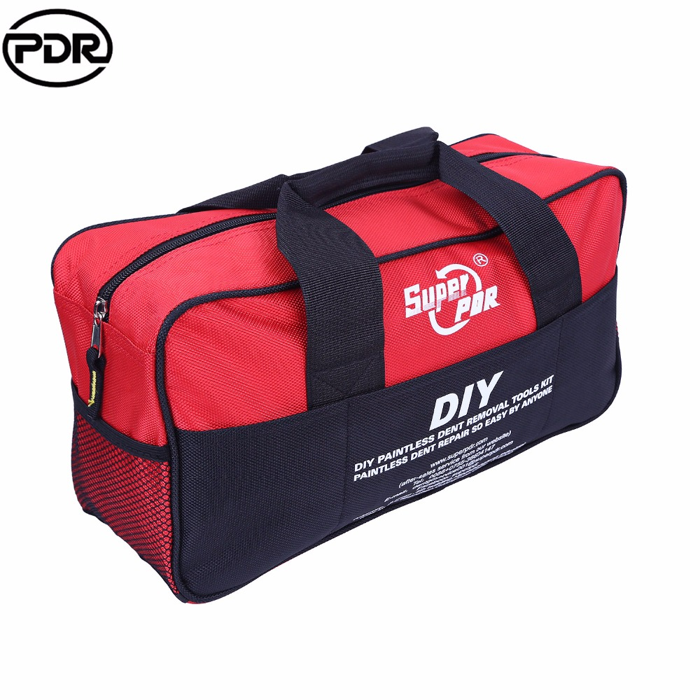 PDR Luminous Tool Bag Tools Packaging Toolkit Storage Bag For  Dent Removal Paintless Dent Repair Hand Tool Sets  40x11x20cm