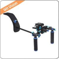 Portable DSLR Rig Film Maker System Dual Hand Handgrip Shoulder Mount For Canon Sony Nikon SLR