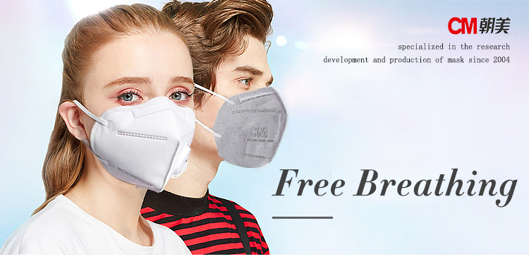 Dust Mask N95 Valve 5 Filter Breathable Pm2 Carbon