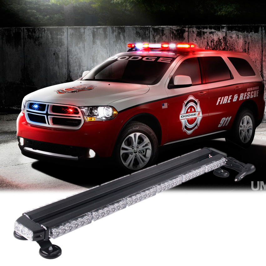 38 Car Warning Flash Strobe Light Bar Tractor Agricultural AVT Offroad Emergency Security LED Lights Bar Amber Red White Blue