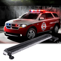 38 Car Warning Flash Strobe Light Bar Tractor Agricultural AVT Offroad Emergency Security LED Lights Bar Amber Red White Blue