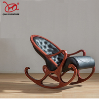 Retro and elegant solid wood rocking chair recliner suitable for the living room good quality chairs antique wooden furniture