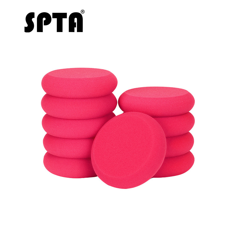 SPTA 105mm Hand Waxing Pad Ultra-soft Polyester Sponge Car Wax Applicator Auto Waxing Sponge For Apply And Remove Car Wax