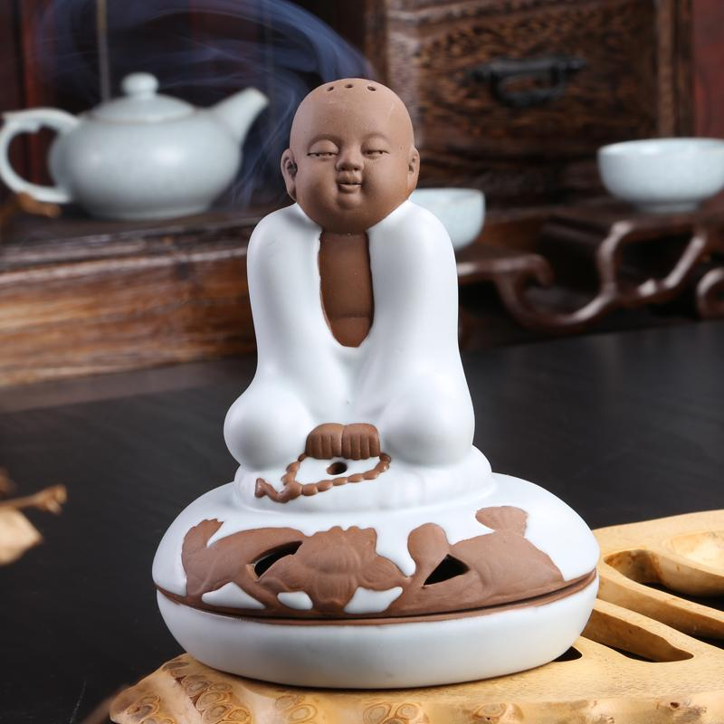 buda dragon Dana sami ancient fuming furnace The young monk ru kiln incense burner Buddhist temple incense appliance household in Incense Incense Burners from Home Garden