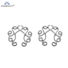 2 Pcs Adjustable Size Sexy Non Pierced Clip On Fake
