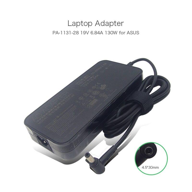 19 В 6.84a 130 Вт Мощность адаптер переменного тока для Asus N46 N56 g74 G74SX pa-1131-28 adp-120rh B adp-120zb BB PA-1121-04 ноутбук Зарядное устройство ...