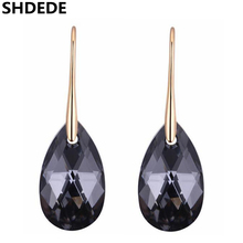 SHDEDE Womens Accessories Crystal from Swarovski Long Water Drop Earrings Jewelry Dangle Pierced Hanging .27279 цена 2017
