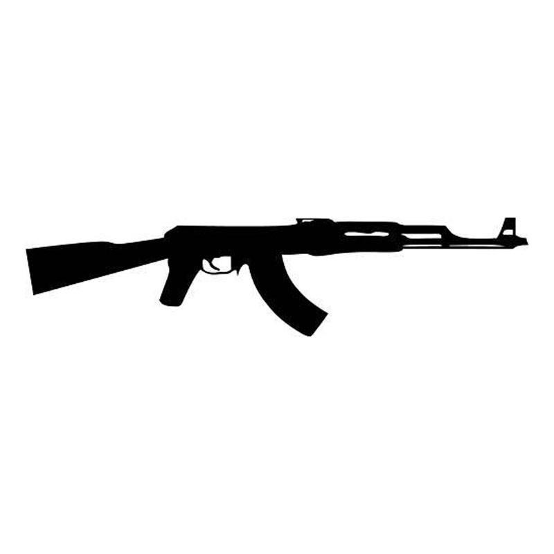 STICKER AK47 AK 47 FUSIL MITRAILLEUR KALASHNIKOV AUTOCOLLANT AA066