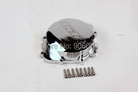 Free shipping motorcycle parts Billet Engine Stator cover for Honda CBR600RR F5 2007-2012 07-12 CHROME left aftermarket free shipping motorcycle parts billet engine stator cover for honda cbr600rr f5 2007 2012 chrome left
