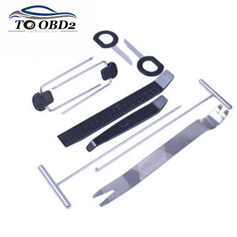 Car Disassembly Tool Car DVD Player Trim Panel Dashboard Audio Removal Installer Hand Tool Sets Interior Refit Kit Black 9pcs