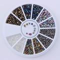 1 Caja de Mezcla de Color Camaleón Rhinestone Pequeña Irregular Del Clavo 3D Decoración Arte en Rueda Manicura Del Clavo de DIY Decoración