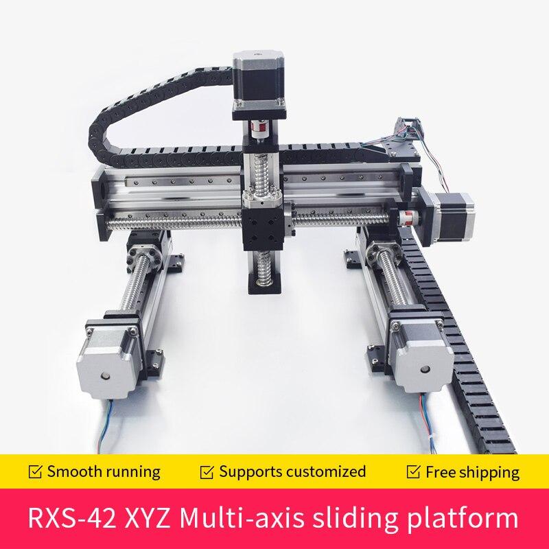 XYZ automatique portique Robot CNC linéaire Module Guide vis à billes Rail glissière mouvement actionneur établi bras robotique Z axe 100mm - 5