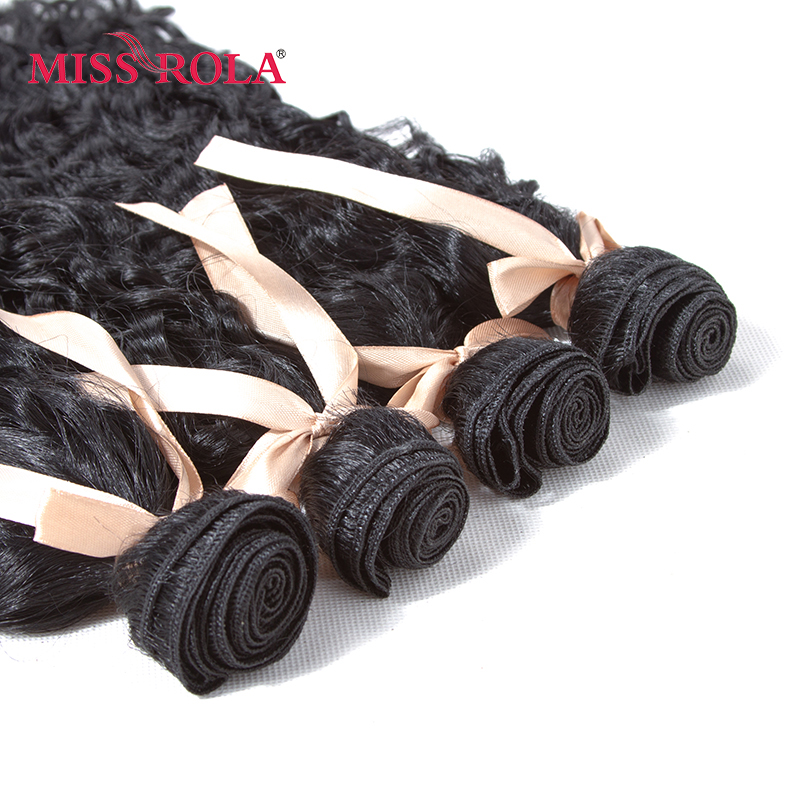 Miss Rola Synthetic Curly Hair Weave 15-18inch 4pcs/Package 200g Kanekalon Hair Extensions 1# Black Bundles Deals For Women