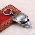 Los Hombres de moda AVP Alien Predator Máscara de metal Llavero llavero chaveiro sleutelhanger car styling llavero recuerdos regalo