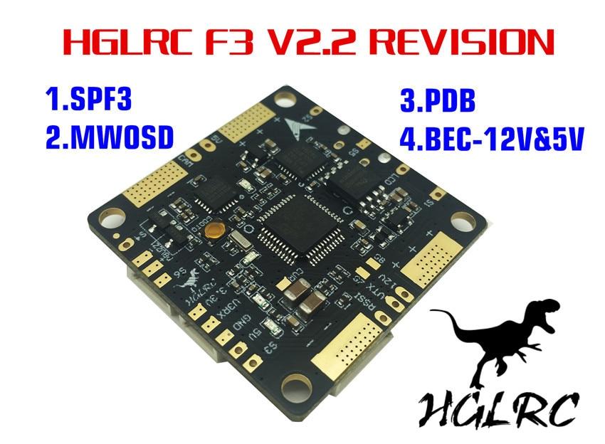 F3 V2.2 6dof Flight Control PAL AIO Integrated with OSD PDB 5V 12V 3A BEC for FPV Racer QAV-X Quadcopter Mini Drone emax stm32f303 f3 femto flight controller with integrated bec buzzer pads vbat pdb