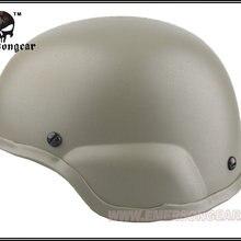 EMERSON ACH MICH 2000 Шлем тактический военный страйкбол шлем EM8975 Черный DE