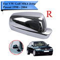 Right Side Chrome Wing Mirror Cover Casing Cap Housing For VW Golf MK4 GTI TDI GL GLS GLX Jetta Passat 1998 - 2004 #P418-R