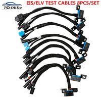 Best Wire EIS/ELV Test Cables For Mercedes 8pcs/Set EIS ELV Maintenance Line Works With VVDI MB BGA & CGDI Prog MB Detection Key
