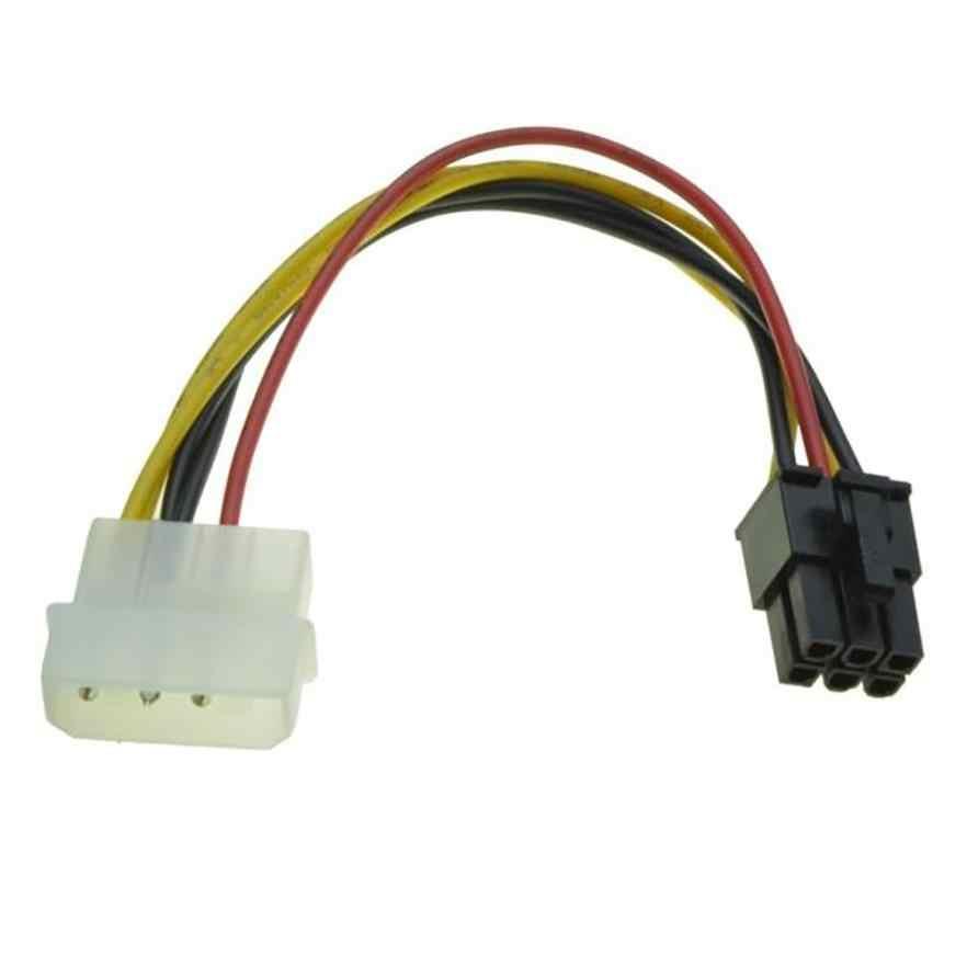 Molex 6 pinli pci-express PCIE ekran kartı güç dönüştürücü adaptör kablosu ince güç kabloları orijinal yedek aksesuarları
