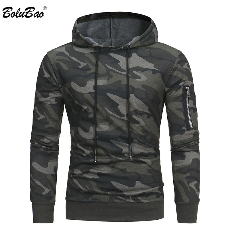BOLUBAO New Men Hoodies Sweatshirt Brand Autumn Military Camouflage Hooded Sportswear Casual Jacket Male Pullover Coat M-3XL
