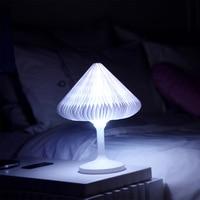 Touch Sensor Table Lamp USB Desk Lamp Mushroom LED Night Light Creative Bedside Lamp Color Changing Style For Home Bedroom Decor