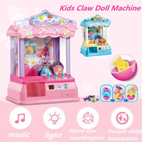 Kids Music Candy Grabber Coin Operated Game Mini Doll Machine Gag Toy Best Gift For Child Toy Grabbing Machine