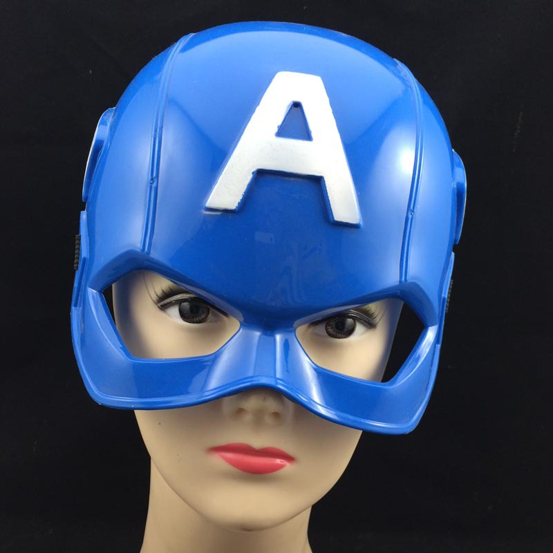 superhero captain america mask halloween party masks the avengers movies mask blue pvc helmet