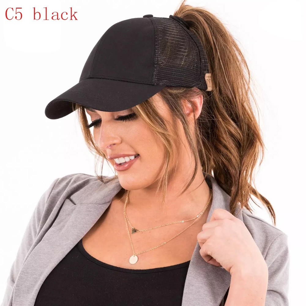f852f3661 C.C Ponycap Messy High Bun Ponytail Adjustable Mesh Trucker Baseball Cap Hat-in  Baseball Caps from Apparel Accessories on Aliexpress.com | Alibaba Group