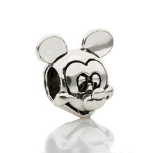 2019 New Fashion Perles Jewelry Silver Color Cute Mickey Minnie Bijoux Bead Fit Diy Pandora Charms Bracelet Wholesale gift(China)