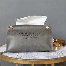 Chic tejido organizador, caja, contenedor de la PU de cuero Vintage diseño de coche de servilletero para pañuelos de papel caja de bolsa de decoración de la Mesa
