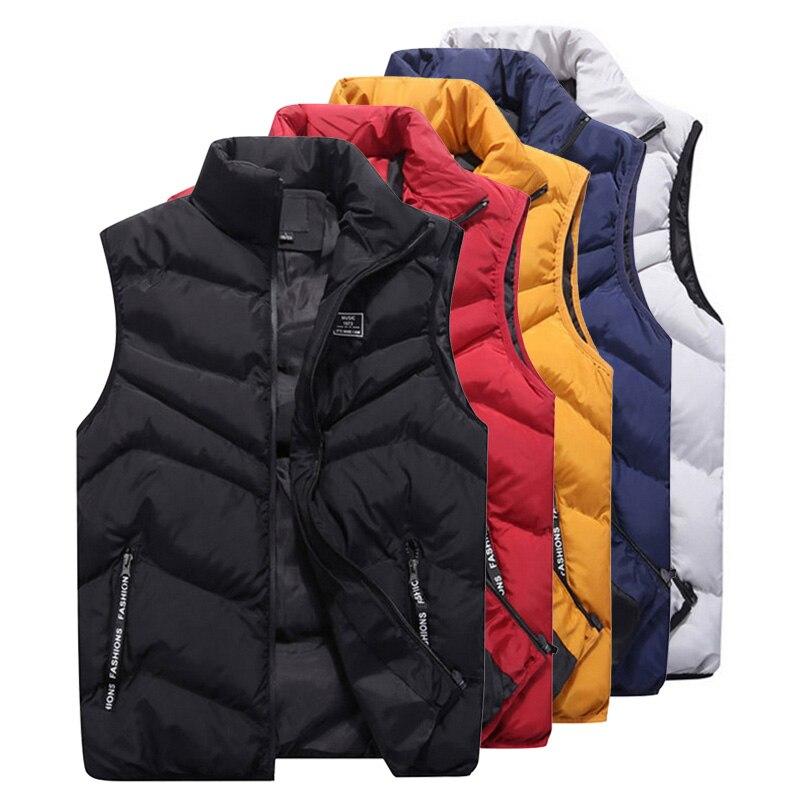 Image 2 - LOMAIYI 2019 Men's Spring/Winter Vest Men Sleeveless Jackets Male Waistcoat Man Padded/Down Vests Mens Warm Vest Coat BM257-in Vests & Waistcoats from Men's Clothing