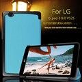 Для LG Gpad G pad 3 8.0 V525 8 дюймов Tablet Ultra Slim Легкий Кастер 3-папка Фолио Стенд Кожа PU Магнитная Крышка случае