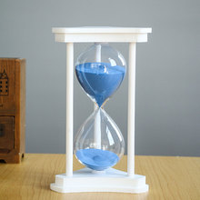 Hourglass 30 Minutes Count Down Timer Wood Sand Glass Watch Timing Home Desk Dec