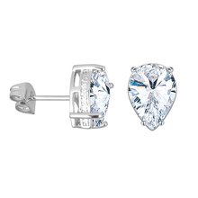 Angel girl 3 ct super large drop shape zircon earrings Fashion wild for women and gift free shipping