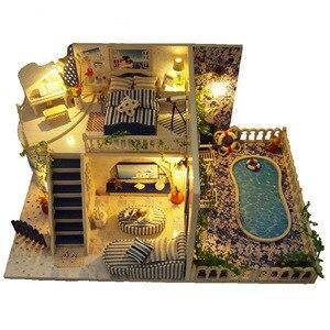 DIY Doll House miniatura 3D Wo