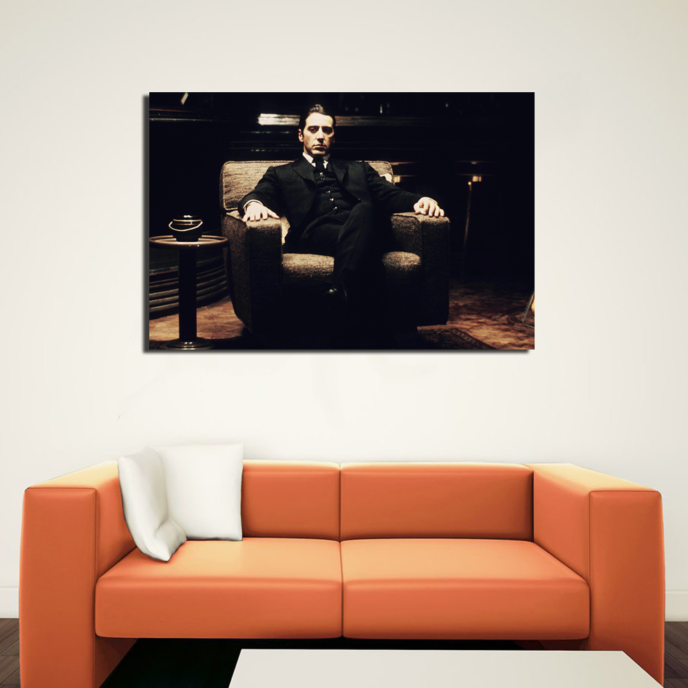 Godfather movies al pacino classi poster wall art canvas print godfather movies al pacino classi poster wall art canvas print picture for home decor in painting calligraphy from home garden on aliexpress jeuxipadfo Choice Image
