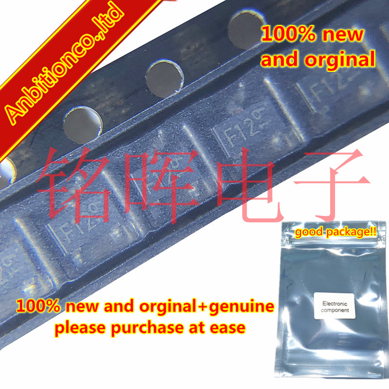 10-20pcs 100% New And Orginal DTB123EK Silk-screen F12  SOT-23 Patch Digital Band-stop Transistor In Stock