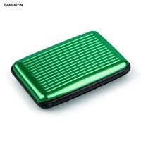 Business Id Credit Card Holder Wallet Aluminum Metal Case Box