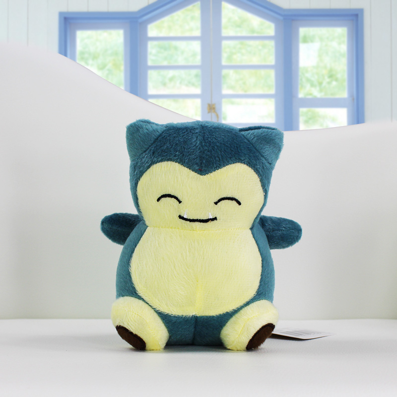 1Pcs Snorlax Plush Toy Dolls Stuffed Soft 14cm Great Gift 14cm