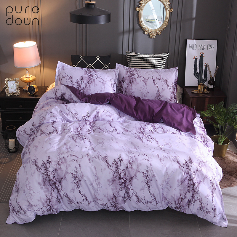 Puredown Bedding Set Queen Size Europe Polyester Home