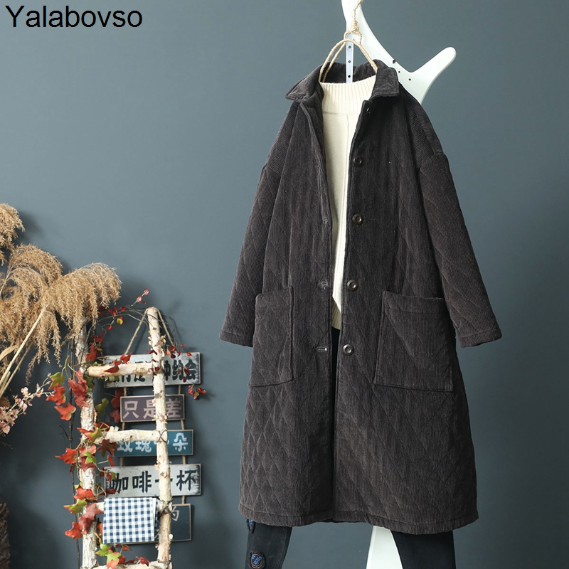 Gray Green Tranchée Femme Nouveau by0001 Nouveauté Velours Long Coupe Black Outwear Pour Z20 by0001 Coton vent By0001 by0001 Khaki Automne Yalabovso Vintage A74 Manteau 2018 Épais Lq5ARj34