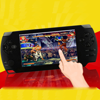 3pcs/lot Free DHL 4.3 inch Touch Screen PMP Handheld Game Player Video FM Camera MP4 MP5 Player Portable Game Consol