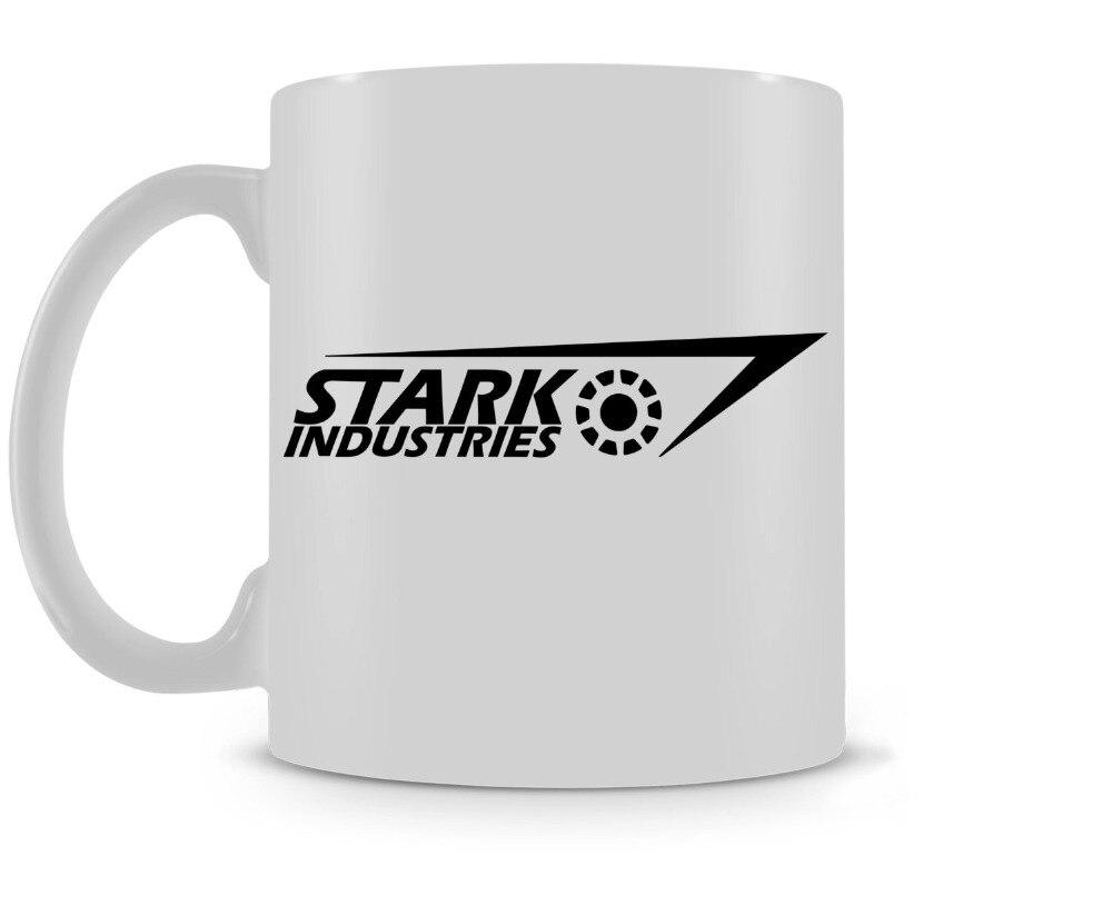 Stark Industries Iron Man coffee mugs ceramic Tea travel home decal kitchen kids gifts mugen