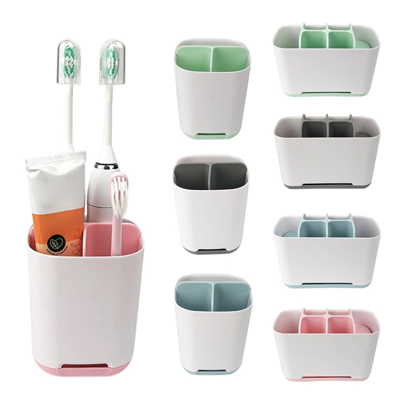 Bathroom Toothbrush Toothpaste Storage Holder Electric Toothbrush Draining Rack Shelf Kitchen Sponge Cleaning Brush Storage Rack image